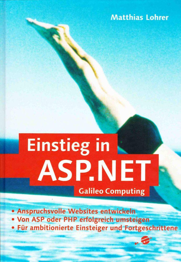 Matthias Lohrer: Einstieg in ASP.NET. Buchcover
