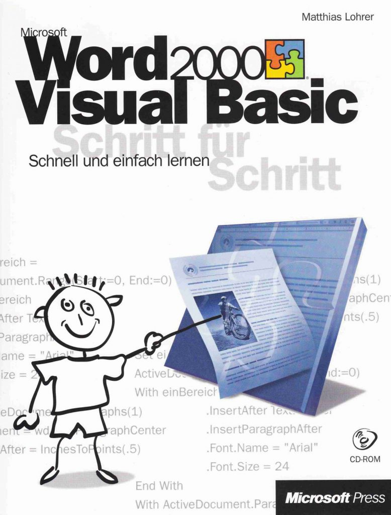 Matthias Lohrer: Microsoft Word 2000 Visual Basic: Schritt für Schritt. Buchcover