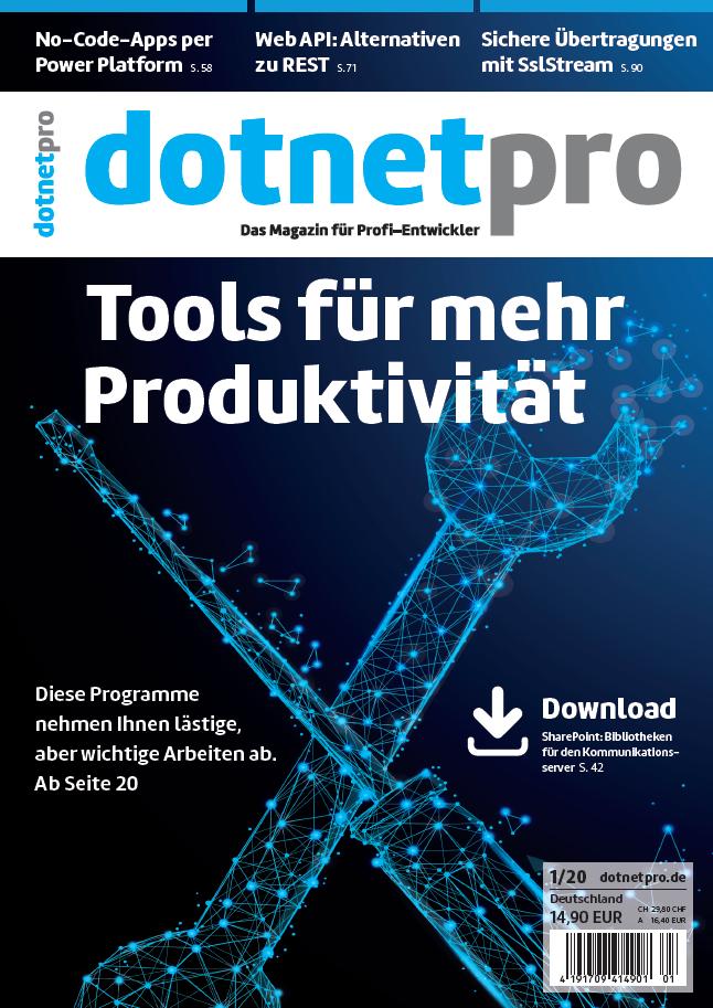 dotnetpro 01/2010, Cover