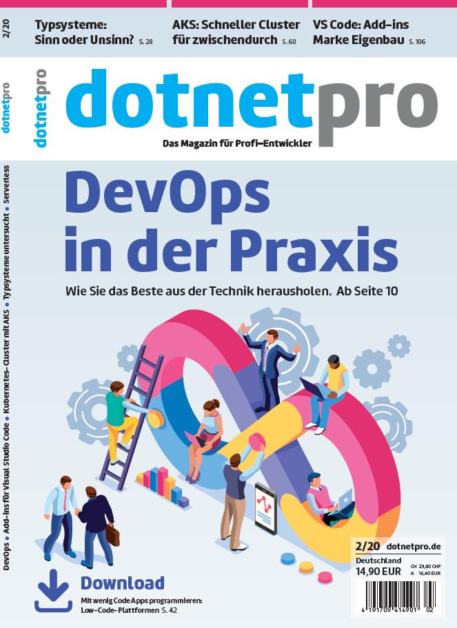 dotnetpro 2/2020, Cover