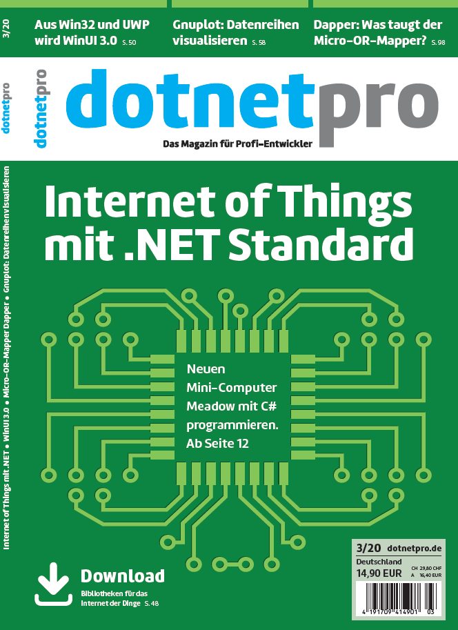 dotnetpro 3/2020, Cover